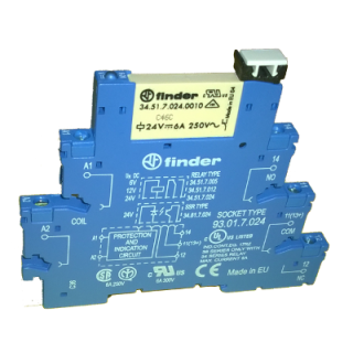 DIN Rail Mount 24VDC 6A relay