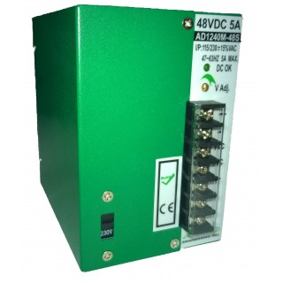 48V / 5A  DIN  mount power supply