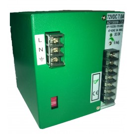 72V / 7A  DIN  mount power supply